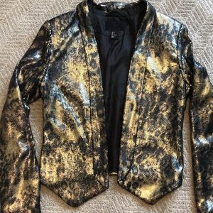 H&M Sequin Printed Blazer